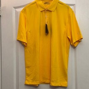 Nike Golf Dry Fit Yellow Polo